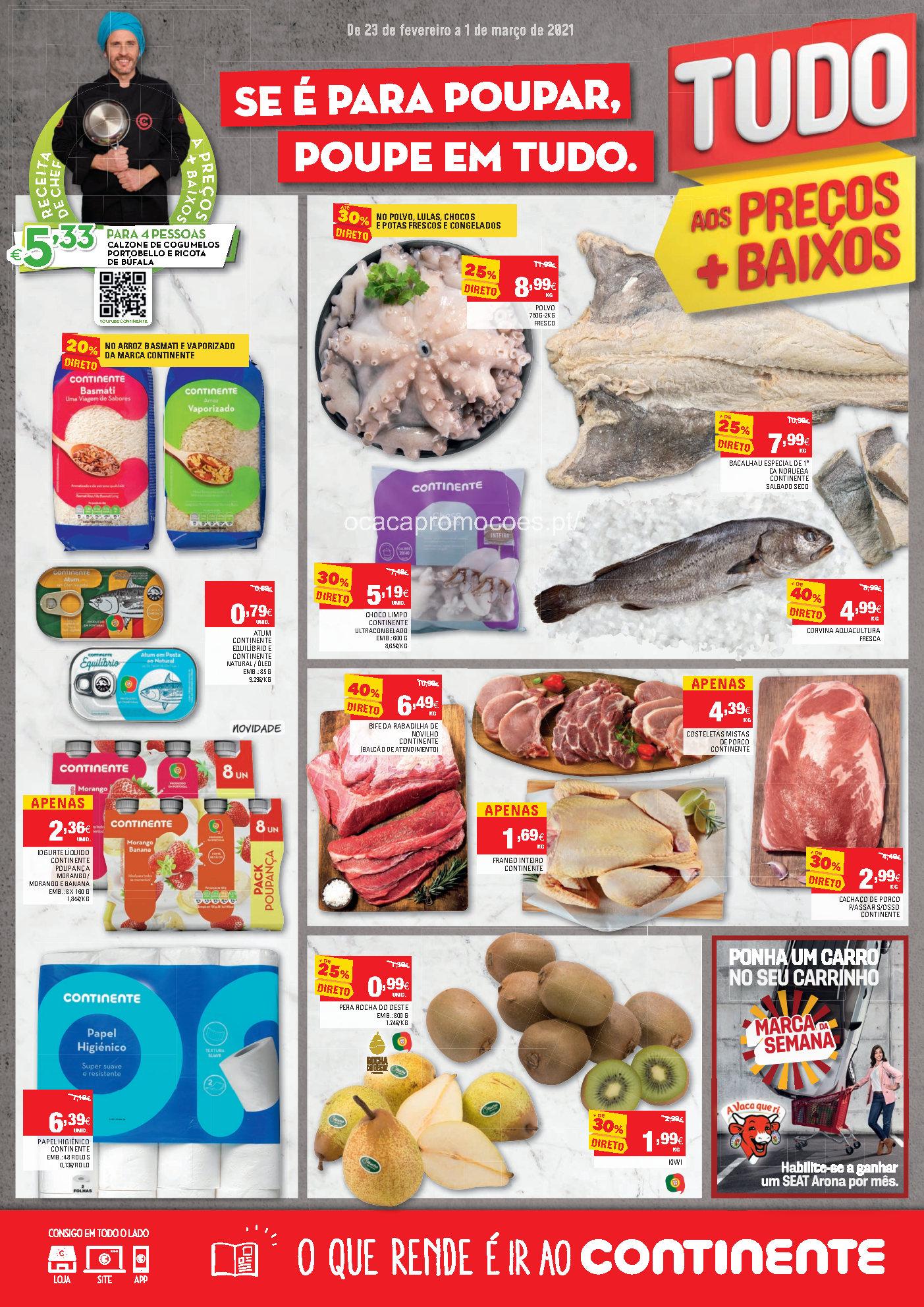folheto continente esta semana 23 fevereiro 1 marco Page1