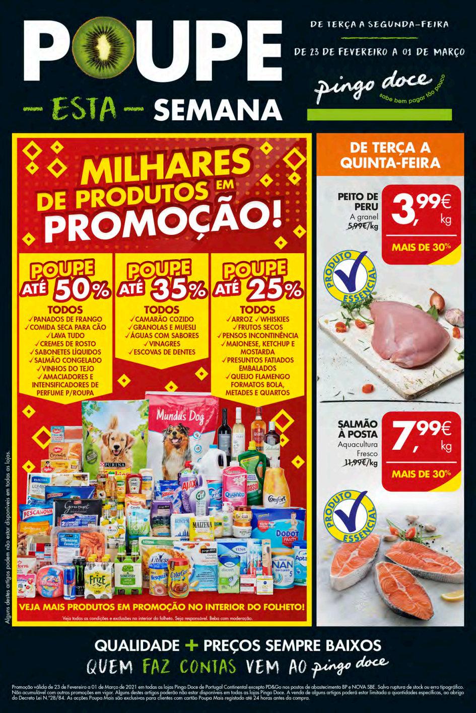 folheto pingo doce lojas medias 22 fevereiro 1 marco Page1