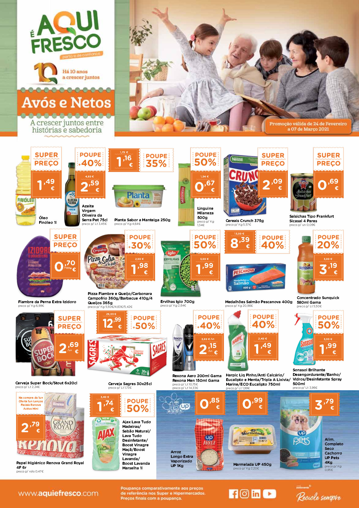 folheto promocoes aqui fresco 24 fevereiro Page1
