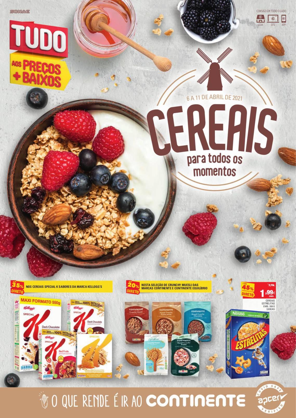 folheto continente cereais pequeno almoco abril 1