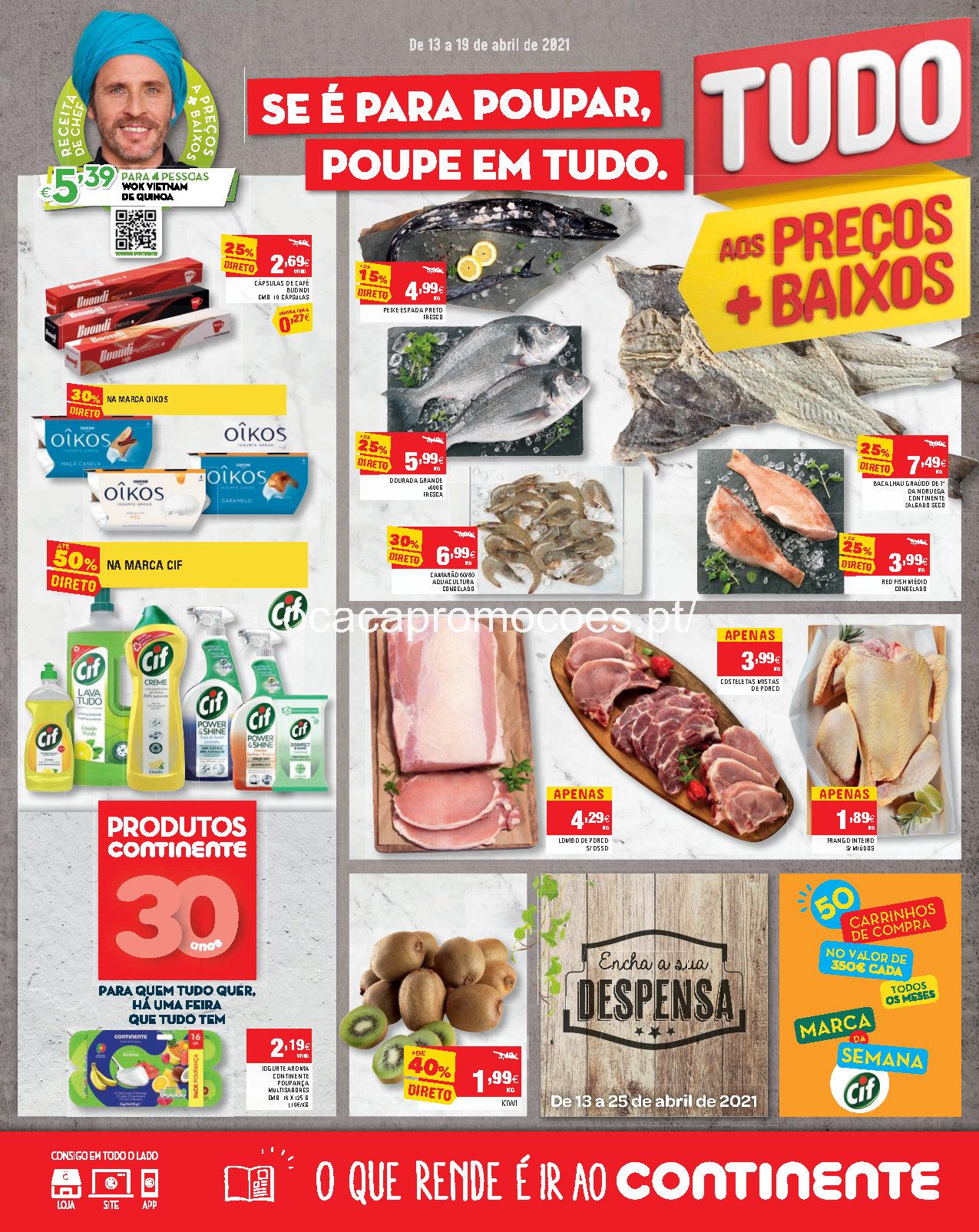 folheto continente promocoes madeira 13 19 abril Page1