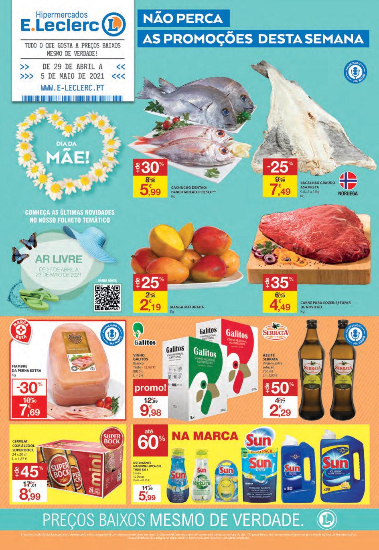 folheto e leclerc 29 abril 5 maio promocoes Page1