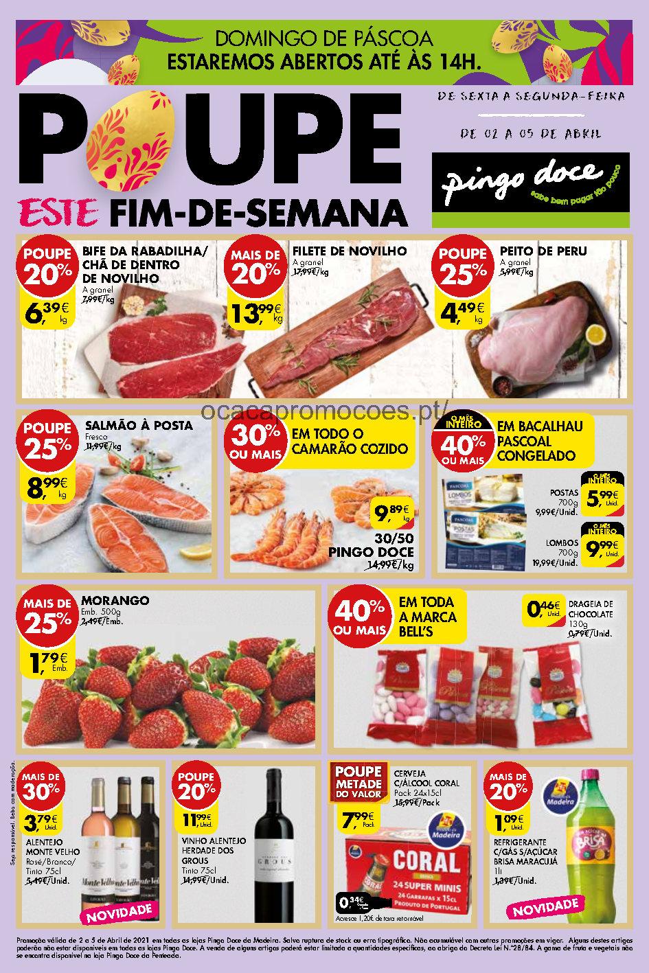 folheto pingo doce madeira 2 5 abril fim semana promocoes Page1
