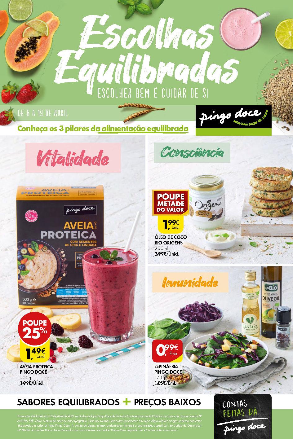 folheto pingo doce saudavel 6 abril promocoes Page1
