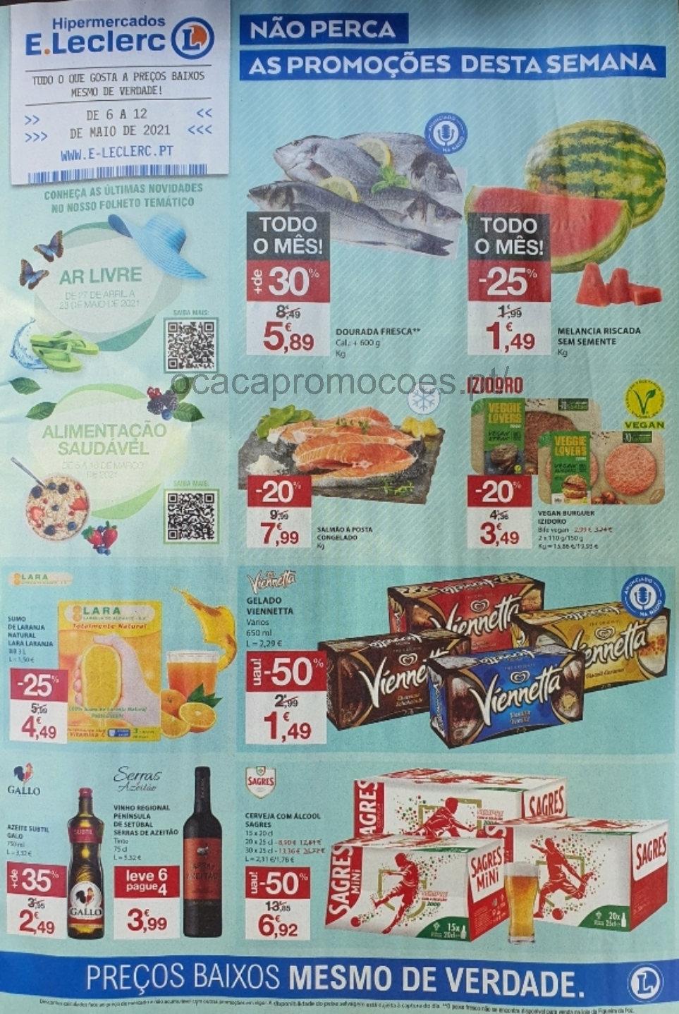 folheto e leclerc promocoes 6 12 maio Page1