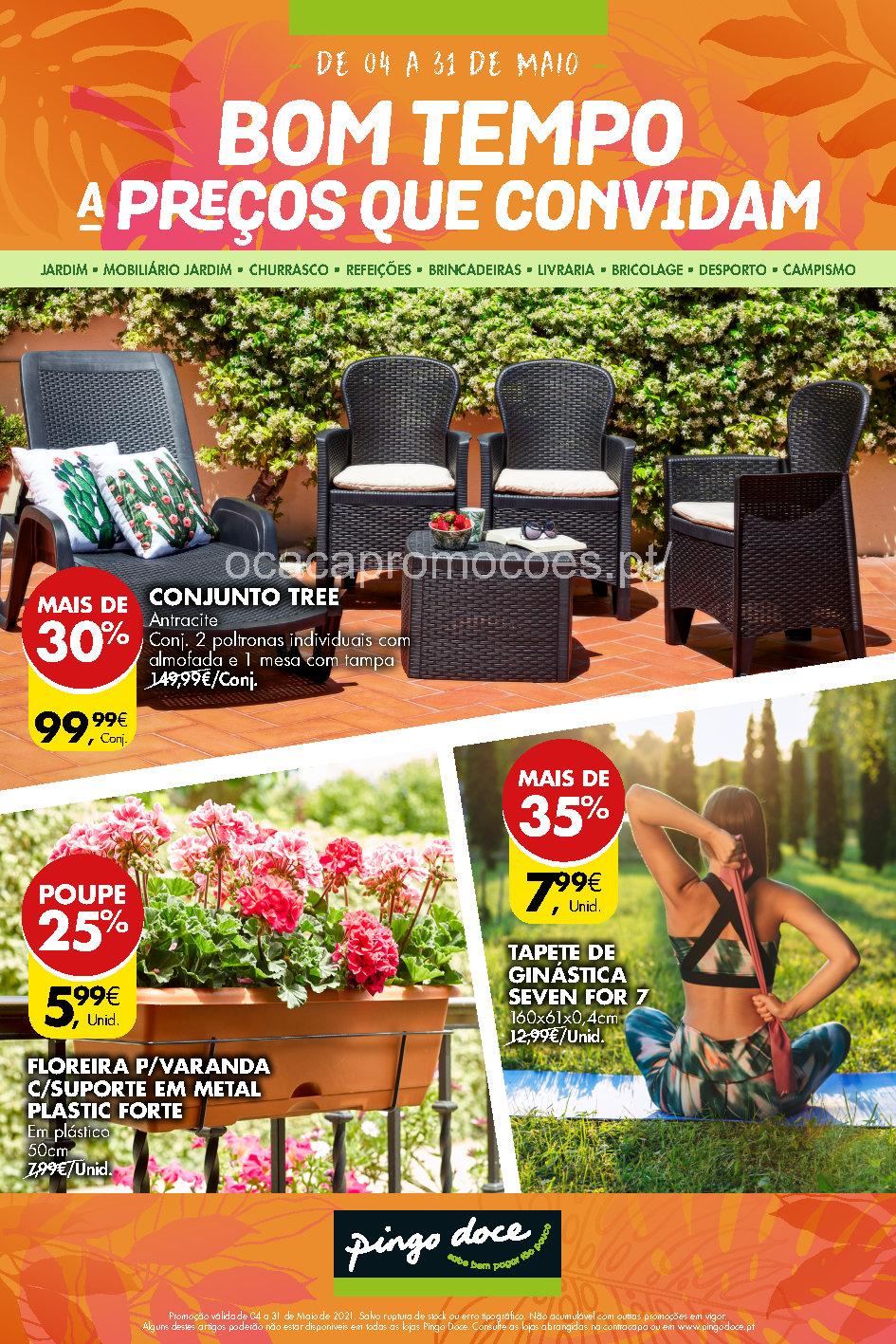 folheto pingo doce bazar 4 31 maio ar livre Page1