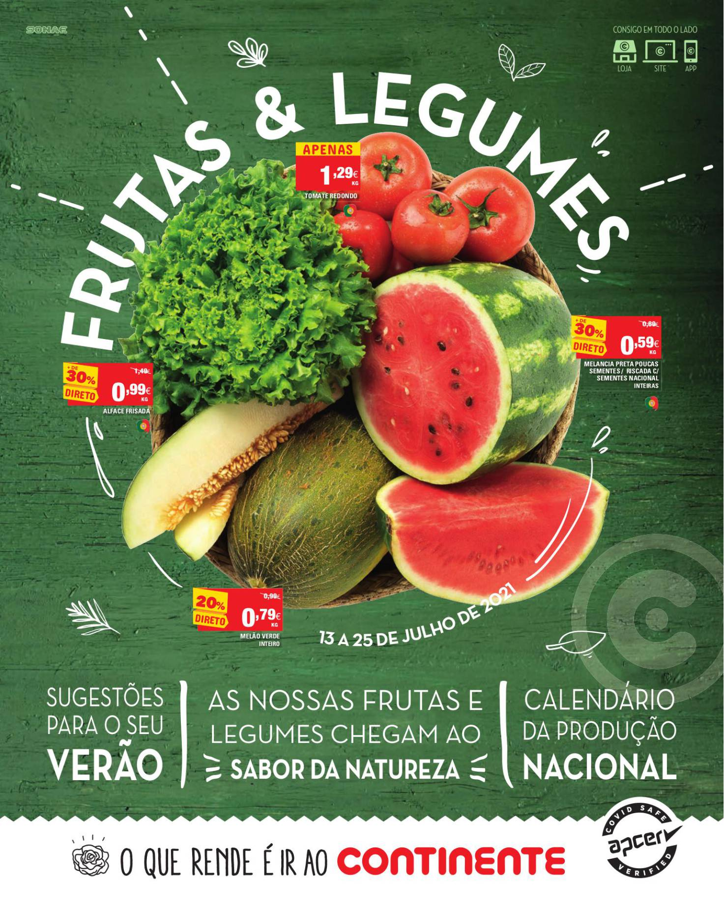 folheto continente frutas legumes 13 juljho 1