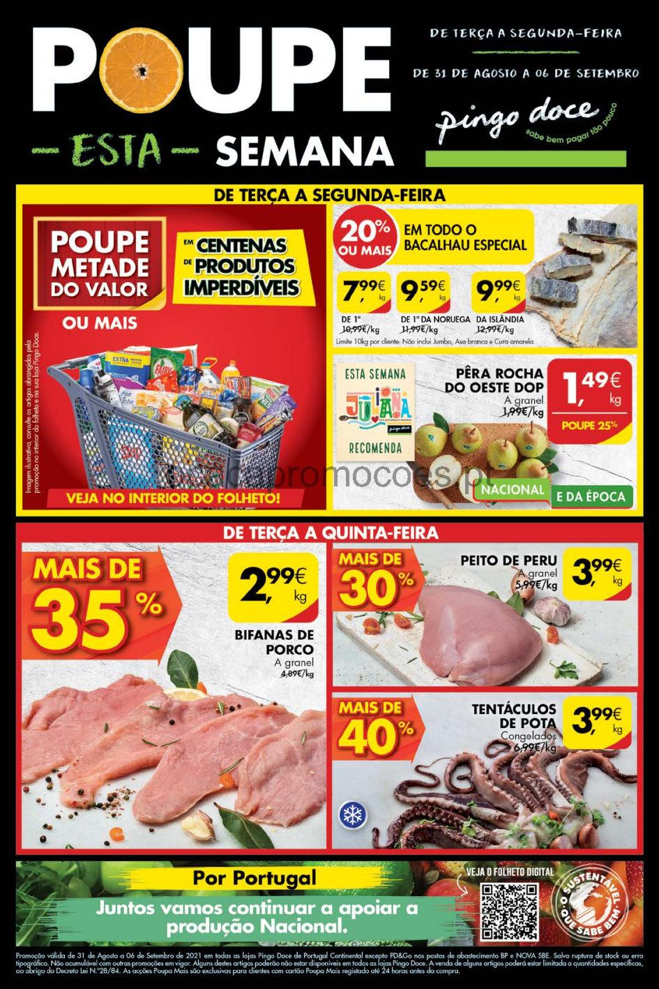 folheto pingo doce lojas grandes promocoes 31 agosto 6 setembro Page1