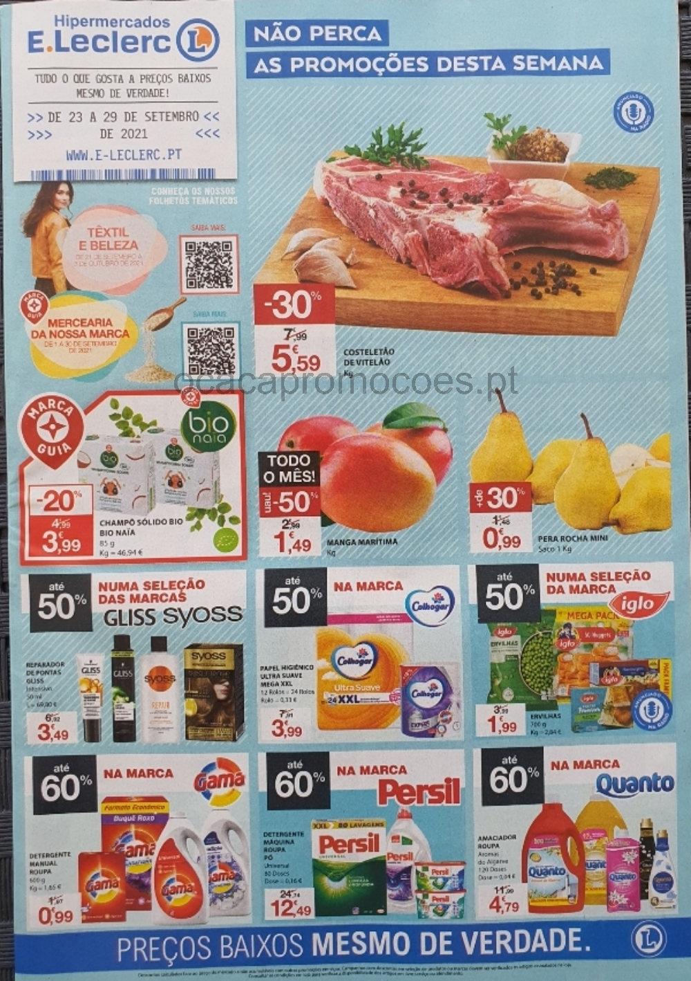 folheto e leclerc promocoes 23 setembro 29 setembro Page1