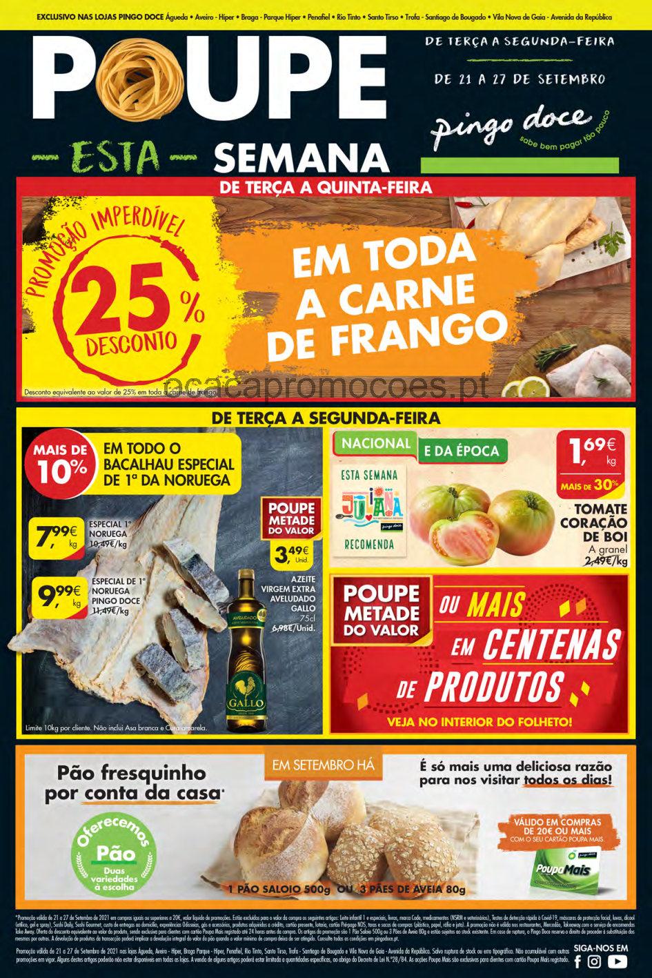 folheto pingo doce lojas norte 21 27 setembro promocoes descontos Page1