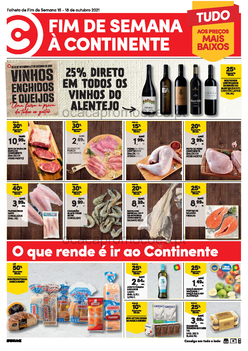 folheto continente fim semana 15 outubro a 18 outubro Page1